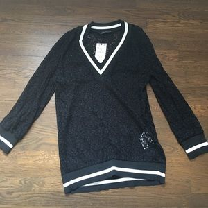 NWT ZARA long sleeve lace top / sweater